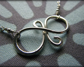 Best Friend Eternal Friendship Necklace - Infinity Eternity Symbol Sterling Silver - Gift Best Friends Sisters Daughter Cousin Girlfriend