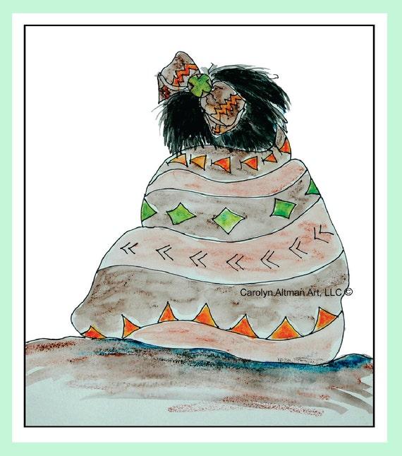 Little Indian Girl Art Print