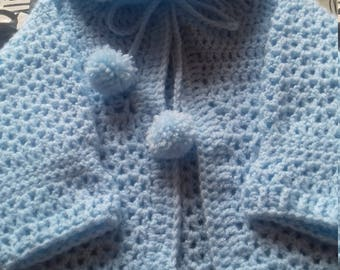 Handmade crochet baby boys set