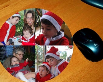 Round mouse pad personalized 19 cm 4 photos