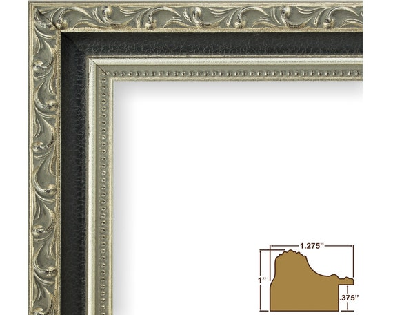 Craig Frames, 22x28 Inch Antique Silver and Black Picture Frame ...