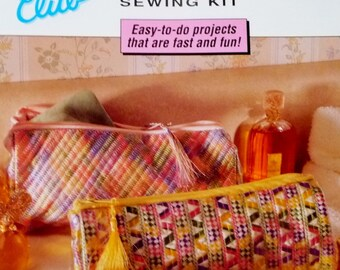 Tapestry Cosmetic Bag Sewing KIT by Pfaff Club Using Machine Embroidery, Includes Fabric and Notions