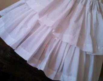 Child Two Flounced Petticoat or choice for young ladies and women