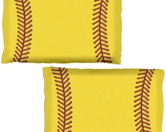 Softball All Over Pillow Case Set