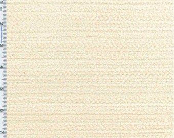 White Terry Chenille Home Decorating Fabric, Fabric By The Yard