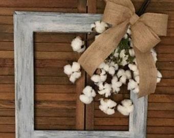 Burlap cotton frame
