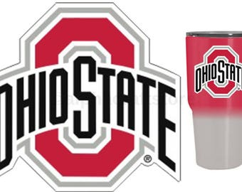 "Ohio State Buckeyes Premium Vinyl Die Cut Decal for Phone, YETI, RTIC, Ozark Insulated Rambler Tumbler Cups 3""W"