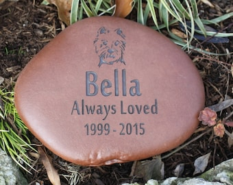 Custom Pet Memorial with Graphic, Name, Personal Message and Years