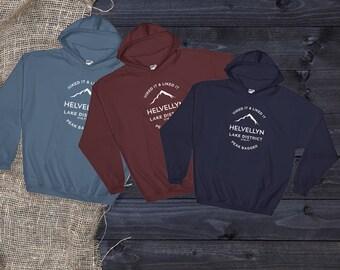 Helvellyn Lake District-Peakbagger-UK Favourite Mountain Walk  Hooded Sweatshirt