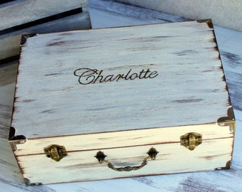LARGE Personalized Memory Keepsake Box Time Capsule (YOUR COLOR CHoIce)