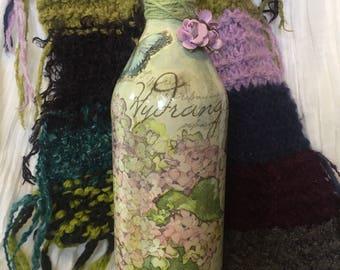 Hydrangea Bottle Art