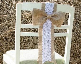Rustic wedding Chair, Rustic Wedding, Rustic wedding Chair Decorations,Burlap Chair Sash, Burlap Wedding Decorations, Wedding Chair