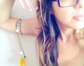 Feather Upper Armlet. Bohemian Armlet Boho Arm band. Mineral Titanium Ethnic Arm bracelet. Live Ur Dream Tribal Skull Upper Arm Body Jewelry