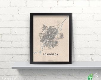 Far Sky Edmonton Road Network Map