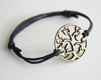 Tree of Life Bracelet or Anklet in Antique Brass, Bronze Bracelet, Woodland Jewelry,Tree Bracelet,Gifts For Her,BFF, Best Friend, Friendship