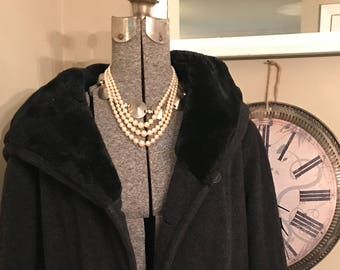Vintage Ladies Coat With Hood  by L.L. Bean U.S.A.
