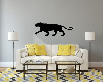 Very Large Stunning 'Big Cat' 3D Silhouette Wall Art, Premium Quality