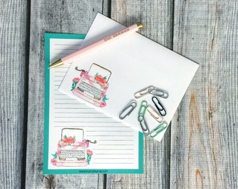 Stationery Set - typewriter love - letter writing