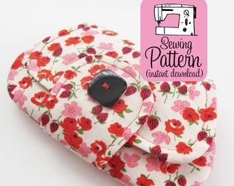 Pocket Clutch PDF Sewing Pattern   Intermediate sewing project tutorial to make a small two pocket envelope style pouch.