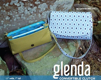 Swoon Patterns: Glenda Convertible Clutch - PDF Bag Purse Clutch Sewing Pattern