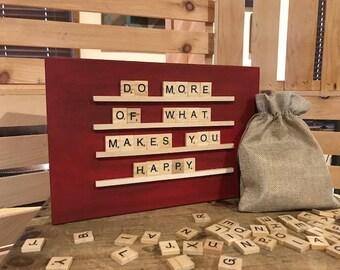 Painted Scrabble Board (12x8)