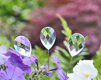 3 Crystal Stake Sun catcher