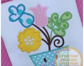 Moving Sale Spring Flowers Machine Embroidery Applique Design