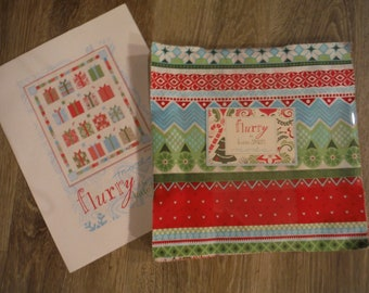 Kate Spain FLURRY Christmas layer cake  10 x 10 RARE