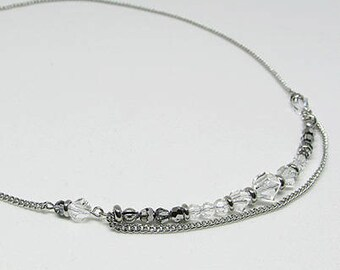 Short necklace - Swarovski Crystal - JET - SET