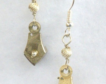 Steampunk Earrings, Etched Balance Plates SE155