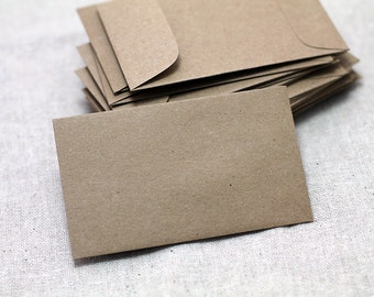 25 Seed Packet Envelopes - for Seed Packet Wedding Favors - Mini Kraft Seed - Recycled Kraft Seed Envelopes - 2.25 x 3.75 inches -
