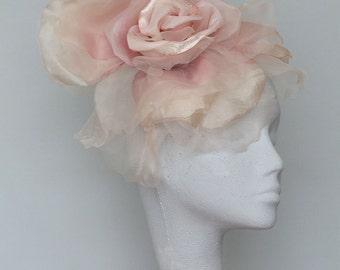 Pale Pink Fascinator Derby Headpiece