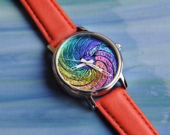 Handmade Dichroic Fused Glass Watch