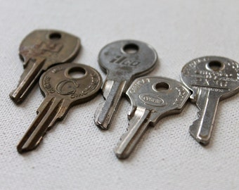 5 Unique Old Keys, no. 7  - perfect for assemblage, jewelry, scrapbooks, art and other crafts