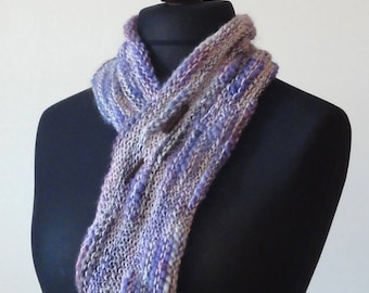 Sale.  Long Bamboozle Cowl. Short Bamboozle Cowl. Pink & Purple Cowl. Colourful Textured Cowl.