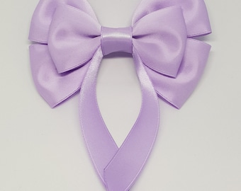 Lilac Swallow Tail Hair Bow