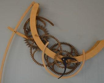 Crescent Wooden Clock Kit