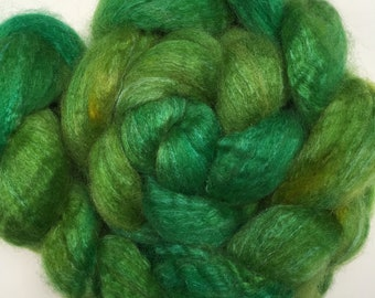 Spinning Fibre Bluefaced Leicester & Silk hand dyed superwash