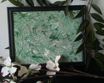 Forest Walk- framed abstract art, abstraction, abstract painting, ready to hang, wall art decor