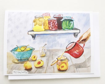 Preserves, 5x7 card, Ready to Ship greeting card