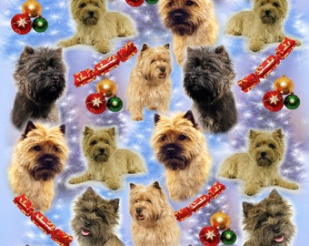 Cairn Terrier Dog Christmas Gift Wrapping Paper.