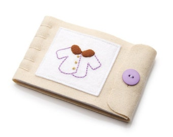 Wool Felt Needlebook, Large Wool Needle Case, Sewer Gift, Quilter Gift, Hand Embroidery, Seamstress Gift, Pin and Needle Storage