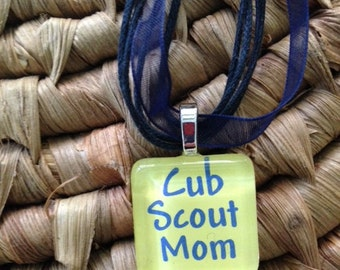 Cub Scout Mom glass tile by Maggie Taggie glass tile tags
