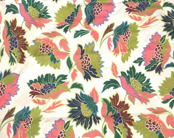 Floral Linen   Fabric Abstract Apparel Abstract By the Yard