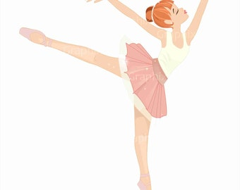 Ballerina Clipart, clipart commercial use, kids vector graphics, ballet, kids, digital images, clipart Ballerina, DIGITAL CLIPART