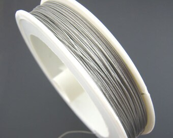 0.09 Euro / m) roll with 50 m silver beading, craft wire, 0.5 mm