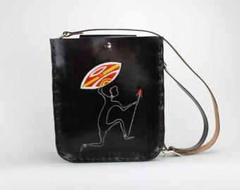 Tooled African Warrior Handbag