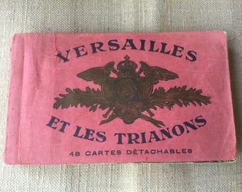 French vintage château de Versailles PostCards Album, postcards of Versailles, détachable post cards, postcard book