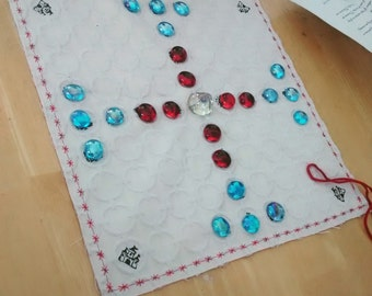 Norse Viking Board Game!  Hnefatafl! (Game of the Fist) Portable, On the Go, Cloth board Game! Tafl!