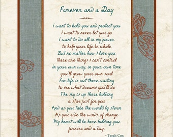 FOREVER AND A DAY, by Terah Cox (Son, daughter, newborn, graduate)
